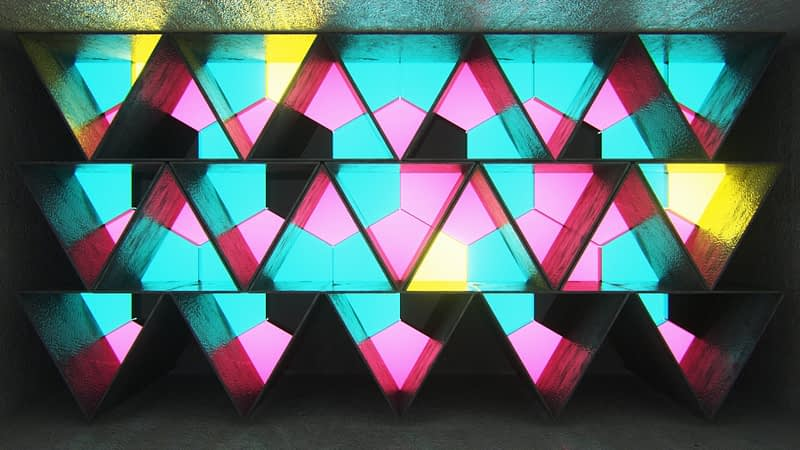 Triangle Shapes Light Rooms VJ Loops Pack