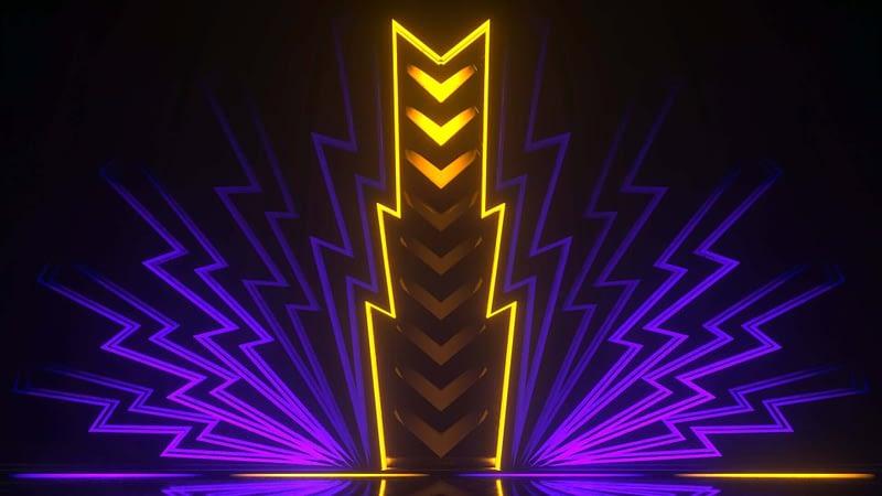 Arrow Lightning Neon Sign