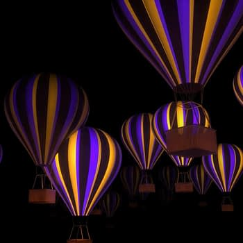 Hot Air Balloons VJ Loop