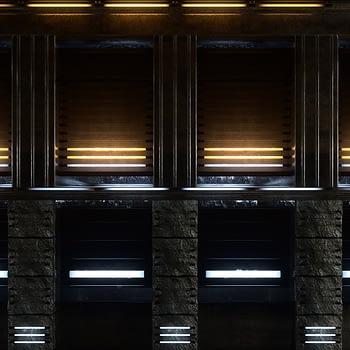 Neon Building with windows VJ Loop - Neon Rooms 2 by Ghosteam