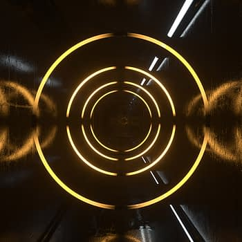 Neon Tunnel with Shapes VJ Loop - Neon Rooms 2 by Ghosteam