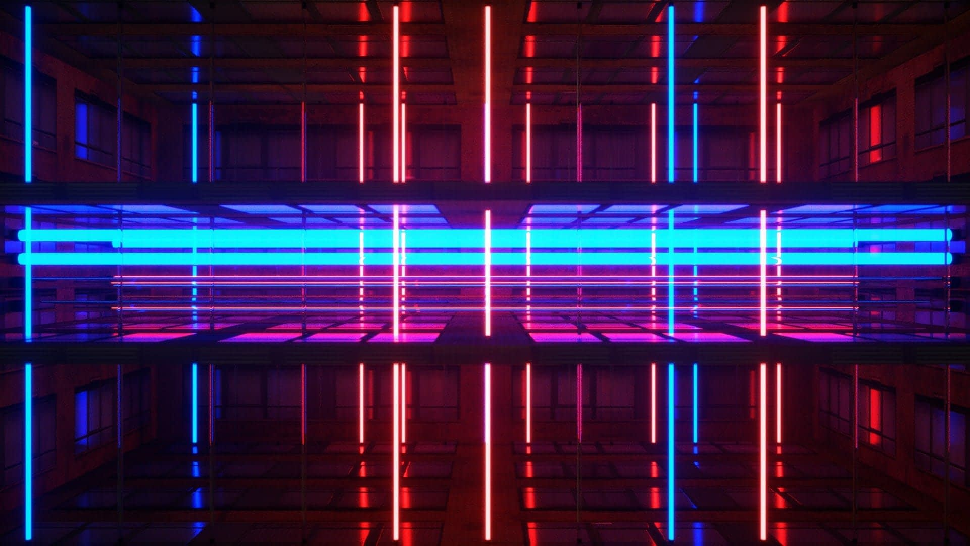 Neon Rooms VJ Pack by Ghosteam - Neon building