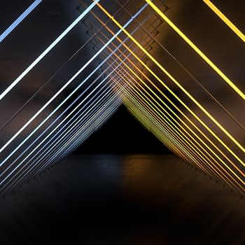 Neon Triangles tunnel VJ Loop - Neon Rooms 2 by Ghosteam