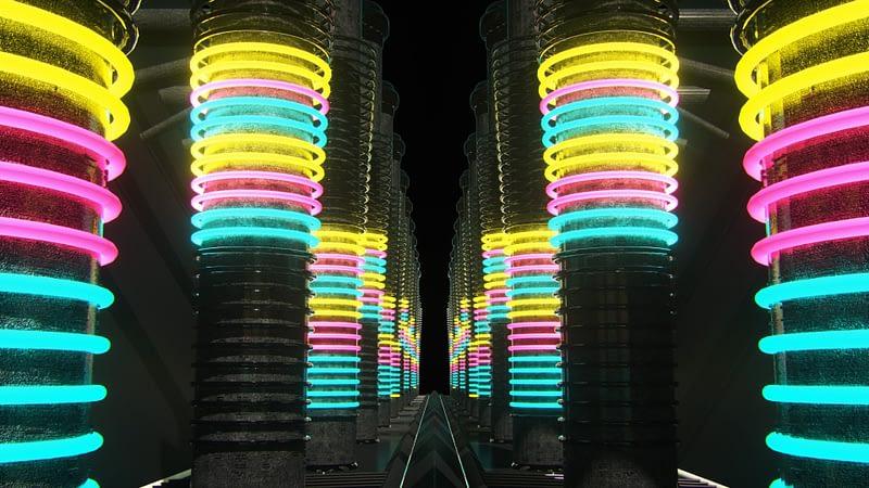 Neon Towers Light Rooms VJ Loops Pack