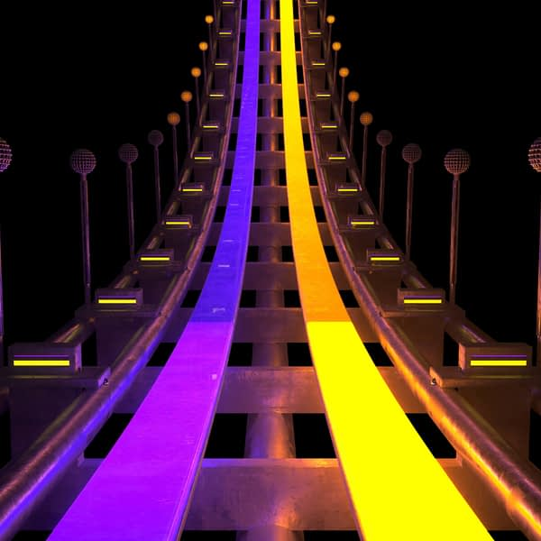 Luna Park VJ Loops Pack by Ghosteam - Roller Coaster
