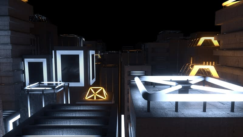 Neon City VJ Loop - Neon Rooms 2 by Ghosteam
