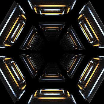 Neon Shapes VJ Loop - Neon Rooms 2 by Ghosteam