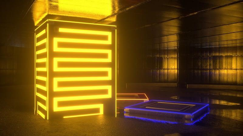 3D Neon Room - Trinity VJ Loops Pack