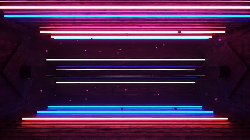 Neon Rooms VJ Pack by Ghosteam - Lines