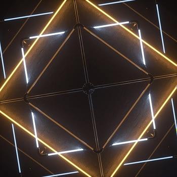 Neon Tubes VJ Loop - Neon Rooms 2 by Ghosteam